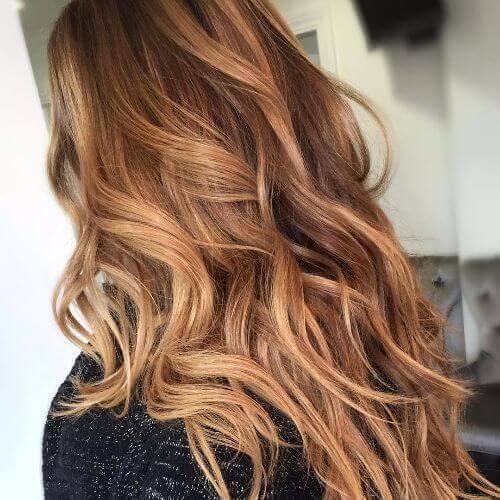 رنگ موی کاراملی روشن