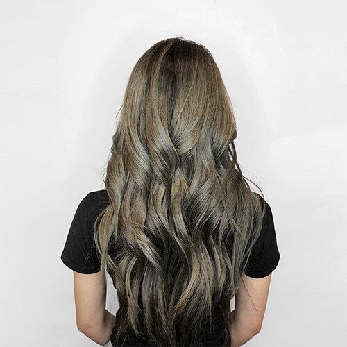 رنگ موی نسکافه ای زیتونی