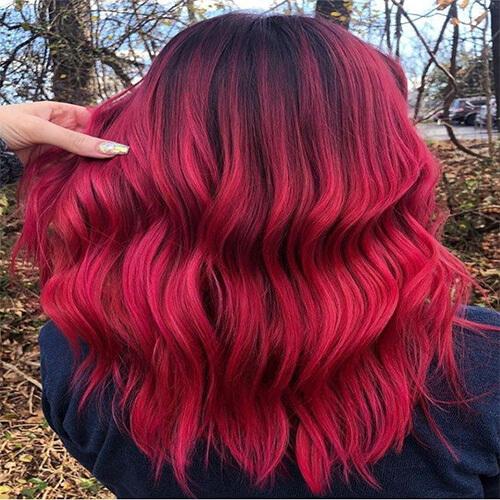 رنگ مو یاقوتی ماگما